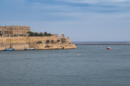 european culture: Maltese capital Valletta, which is on the World Heritage Site and European Capital of Culture in the near future. Mediterreanean sea and the fortress.