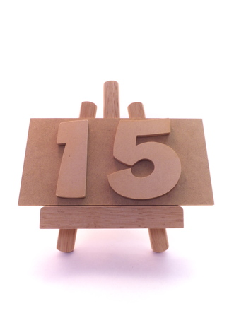 15: Number 15 Stock Photo