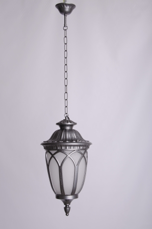 metall and glass: street lamp Stock Photo
