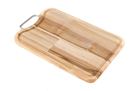 Cutting board on white baclground