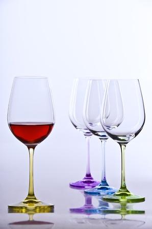 Glasses with wine Stock Photo