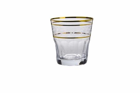 Whiskey glass on white background Stock Photo