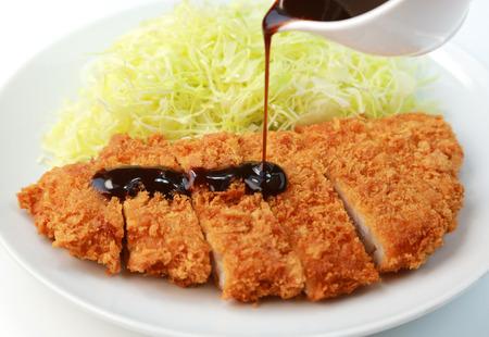 Japanese food  Pork cutlet