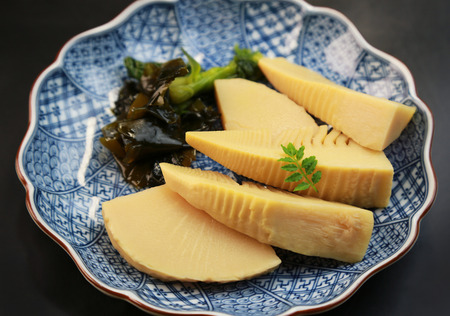 Japanese food  Wakatakeni (simmered bamboo shoots and seaweed)