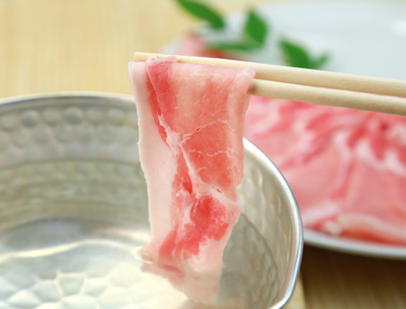 raw: Japanese food  Pork Shabu Shabu