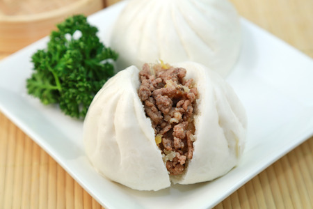 Steamed meat bun