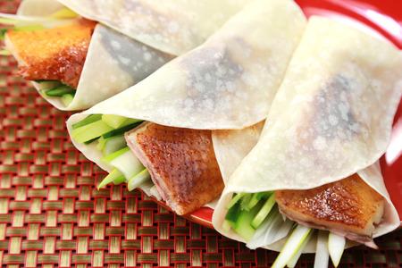 Chinees eten  Peking eend Stockfoto