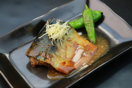 Japanese food / Mackerel simmered in miso