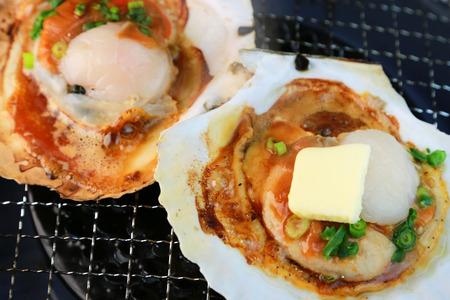 firing: Japanese food  Butter firing of the scallop