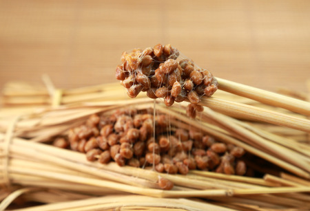 Japanese food  natto 版權商用圖片