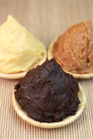 paste: Dark-brown bean paste  Red miso  Japanese food