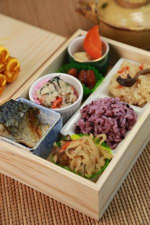 飯盒日本菜 版權商用圖片