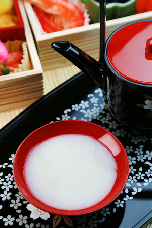 alcoholic drink: amazake  japanese sweet alcoholic drink