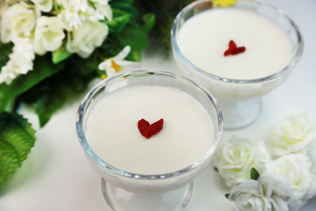 Chinese-style almond jelly photo