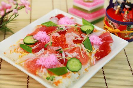Chirashi-sushi / japanese food