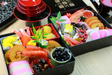 Osechi, Japanese New Year dishes photo