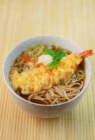 Tempura soba  Japanese buckwheat noodle