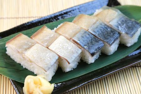 Mackerel sushi, Japanese food photo