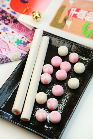 goodluck: Good-luck candy  Japanese sweets  Stick candy symbolizing good luck called Chitose candy