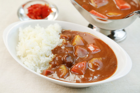 Japanese Curry, Curry and Rice Stock Photo