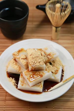 starch: Kudzu starch cake  Japanese sweets
