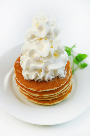 サワー クリームとパンケーキ