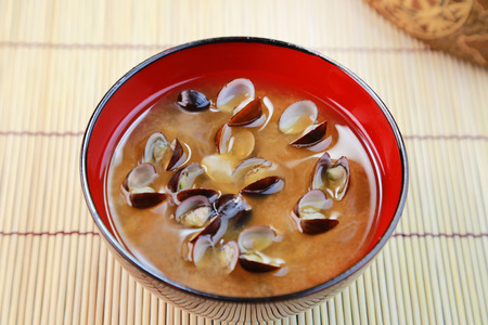 fishery products: miso soup of the corbicula