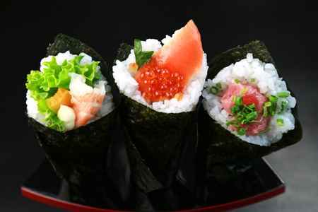 Hand-rolled sushi  Japanese food
