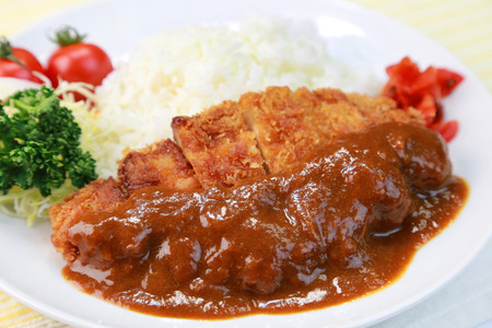 curry rice with a cutlet / japanese food