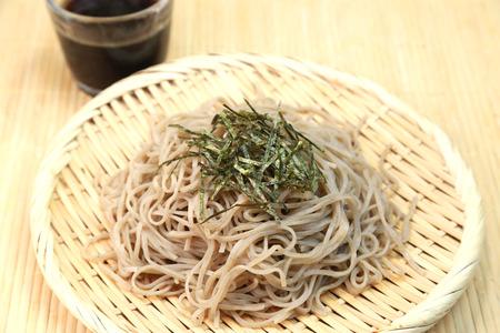 soba: Soba  Japanese noodles Stock Photo