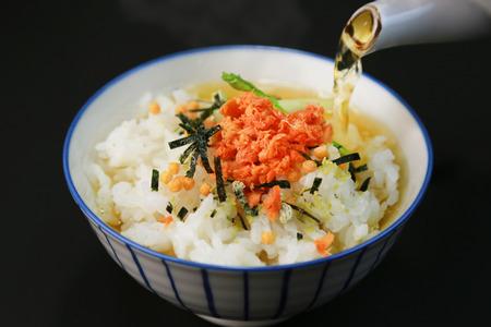 Boiled rice in tea Chazuke Japanese food