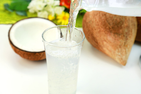 Coconut water Banque d'images