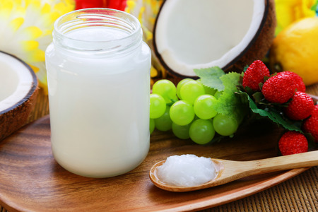 coconut: Coconut oil Stock Photo