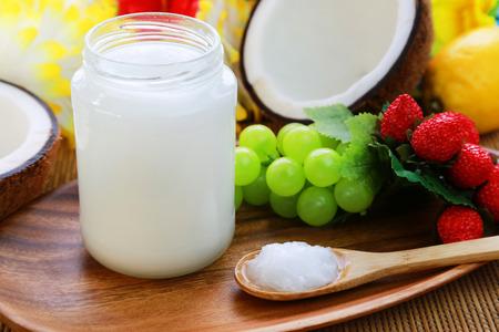 Coconut oil Banque d'images