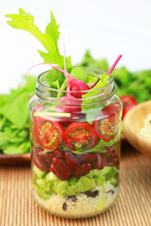 salad: Jar salad Stock Photo