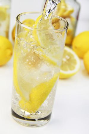 Lemon soda Standard-Bild
