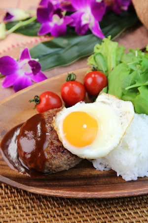 loco: Loco Moco:A Hawaiian style mixed-grill on rice