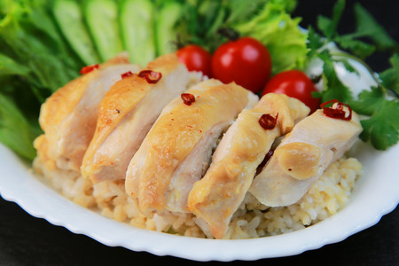 singaporean: Singaporean chicken pilaf
