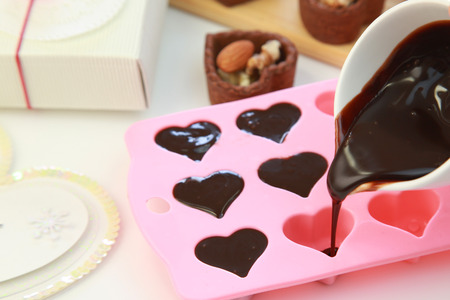 hot day: Chocolate sauce Stock Photo