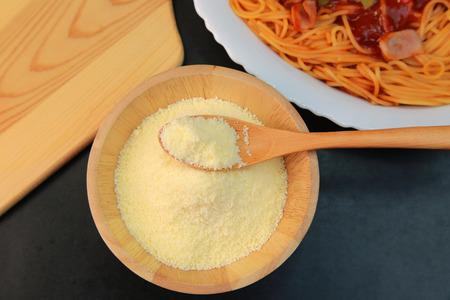 Parmesan: Parmesan cheese Stock Photo