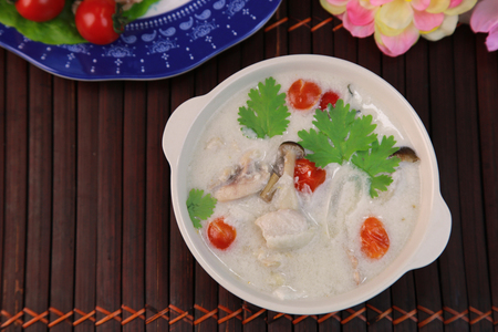 Coconut milk soup of the chickentom kha gai