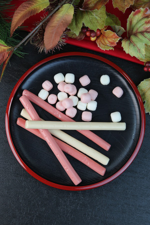 goodluck: Chitoseame  a long stick of red and white candy sold at childrens festivals