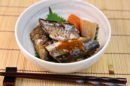 kanroni dishes boiled in a syrup
