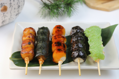 various skewer dumplings