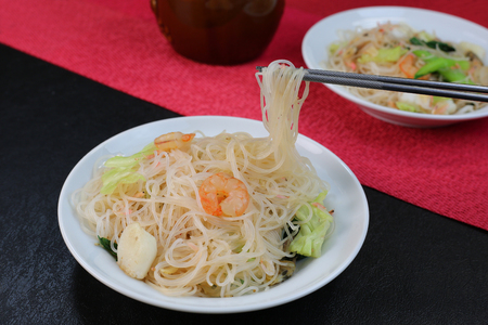 The rice vermicelli which I cooked