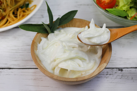 Source of an onion and the yogurt