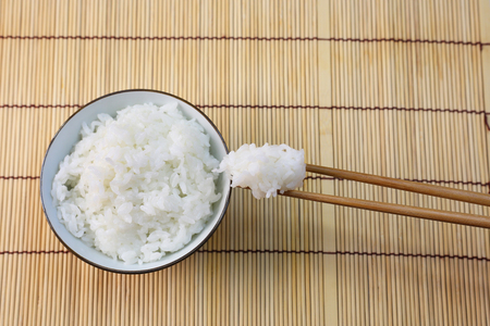 The rice which I served in a bowl