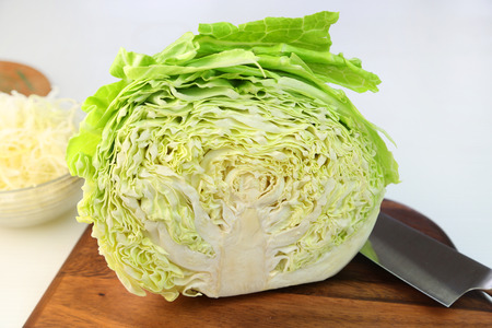 The cabbage which I half cut