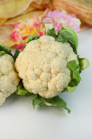 a kind of vegetable called a cauliflower 스톡 콘텐츠