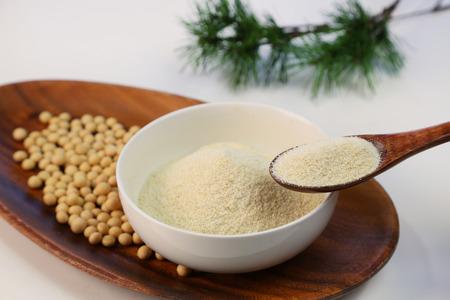 Dry bean curd powder Imagens